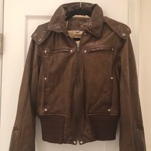 True Religion Brown Leather Jacket